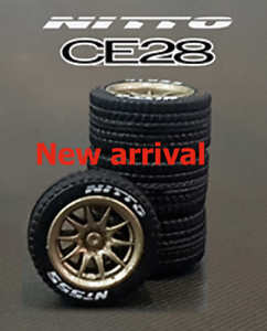 1-64-rubber-tires-rims-amp-axles-CE28-fit-Kyosho-Hot-Wheels-MBX-diecast