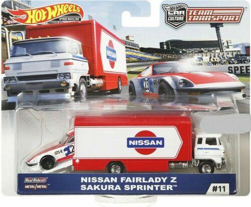 Hot Wheels Nissan Fairlady Z Sakura Sprinter Team Transport FLF56-956F 1//64
