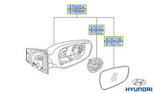 Genuine Hyundai i30 Wing Mirror RH Drivers - 87620A6110