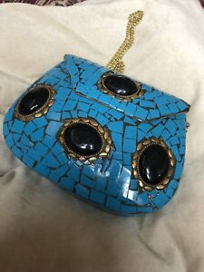 Any O Handcrafted Clutch Boho party Bags Wedding Evening Stone xAPqZwXw
