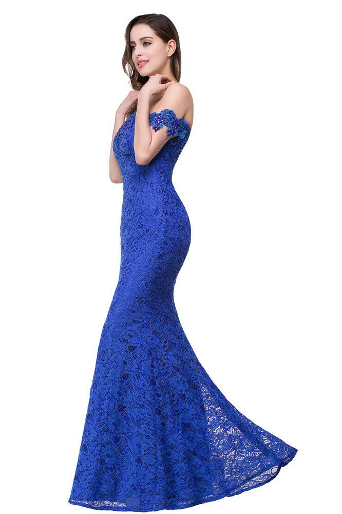 Babyonline Lace Long Evening Prom Dress Formal Party Ball Gown ...