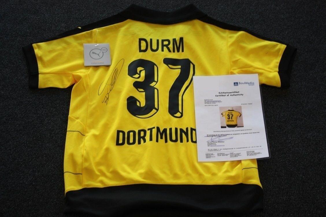 Borussia Dortmund Jersey, Erik DURM SIGNED, BVB, 140