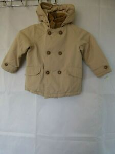 Zara Baby Outerwear Boys Jacket Hooded Double Breasted ...