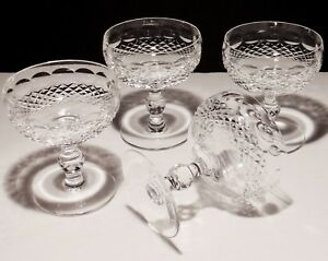 4-WATERFORD-CRYSTAL-COLLEEN-CHAMPAGNE-SHERBERT-GLASSES-4-3-8-IRELAND
