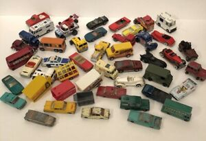 40-Vintage-Diecast-Toy-Car-Lot