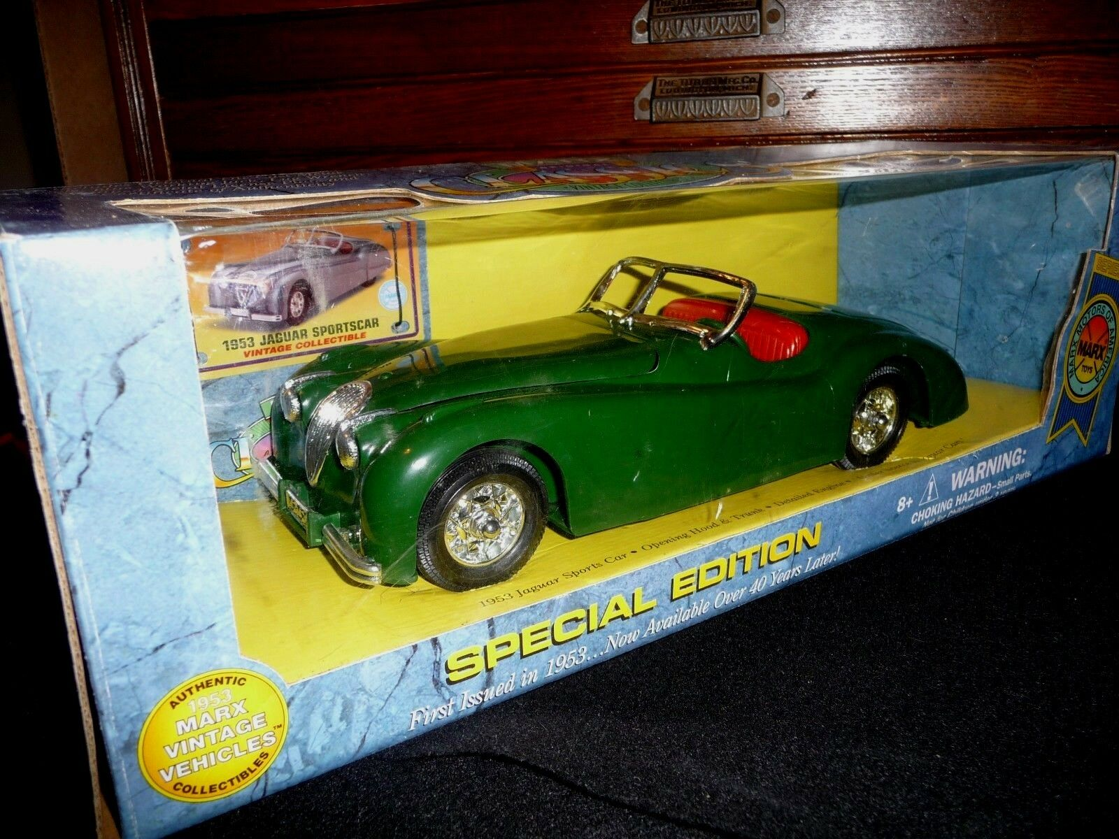 Vintage MARX TOY JAGUAR XK120 Voiture de sport comme  dans James Dean Story Comme neuf IN BOX  être en grande demande