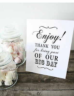 Shabby Chic/Vintage Candy Buffet Sign/Candy Bar/Sweets/Table Sign/Wedding/ 10003