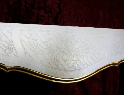 50 x 21 Barock Konsole Wandkonsole Antik //Spiegelkonsolen//Wandregal weiß-gold B