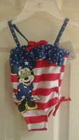Disney Baby, Infant Girls 1 Piece Bathing Suit, Size 6-9 Months Upf+50,