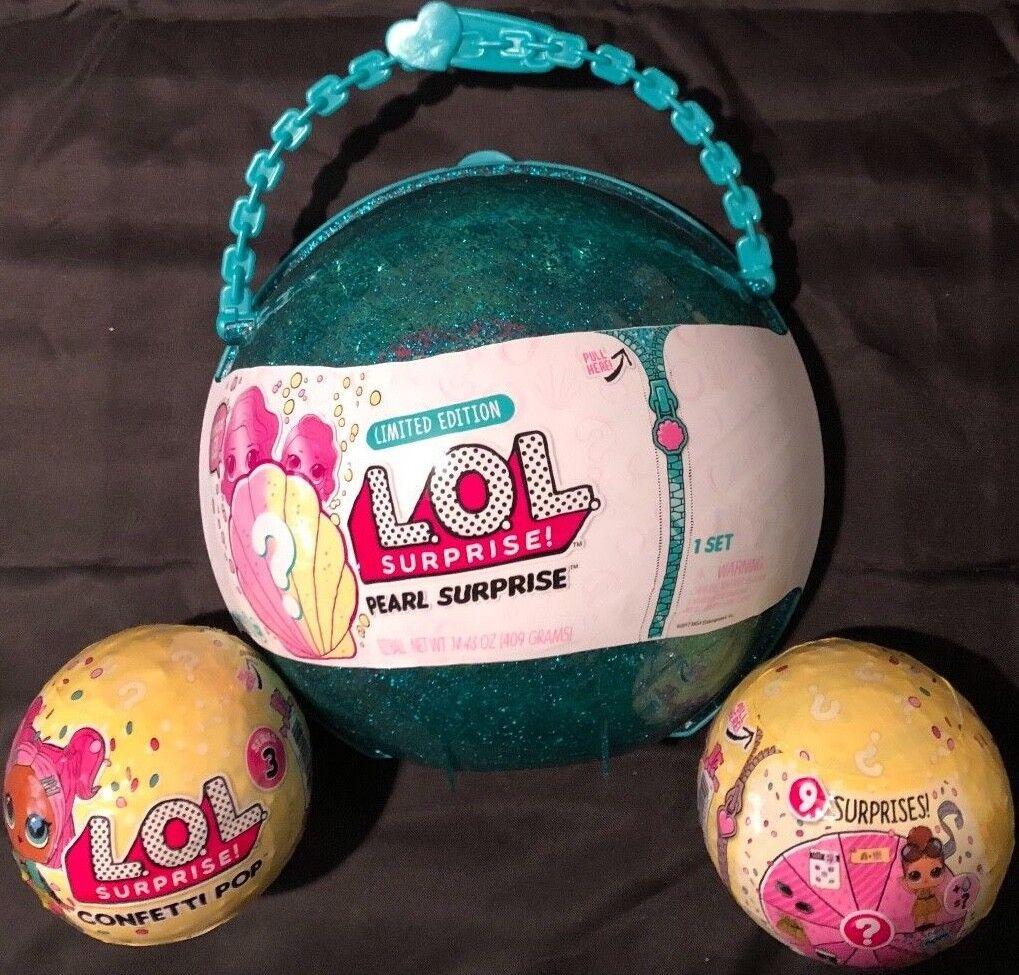 Auténtico lol l.o.l. sorpresa Perla Limited Edition + 2 Confetti Pop sorpresa BN