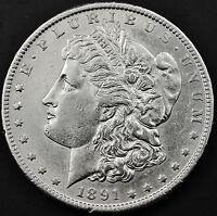 1891-s Morgan Silver Dollar.  A.U.   (INV.A)
