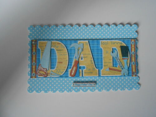 PACK 2 TOOLTIME DAD EMBELLISHMENTS TOPPERS FOR CARDS AND CRAFTS FATHERS  DAY