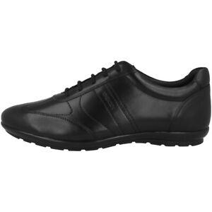 GEOX Symbol Herren Low Sneaker Schwarz Schuhe