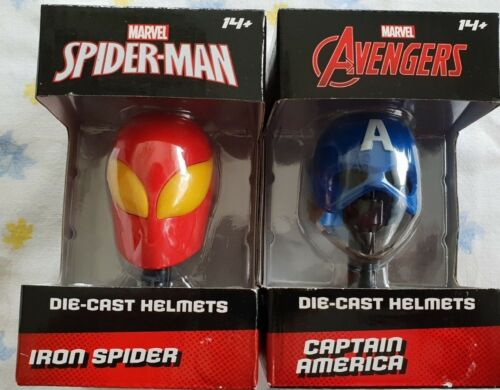Marvel Legends Avengers Spiderman Iron Spider Captain America Die Cast Helmet