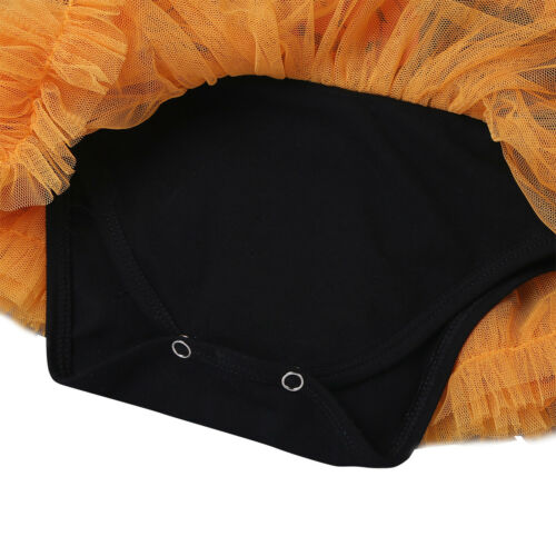Baby Girls 1st Halloween Skull Pumpkin Tutu Romper Dress Headband Shoes Outfits