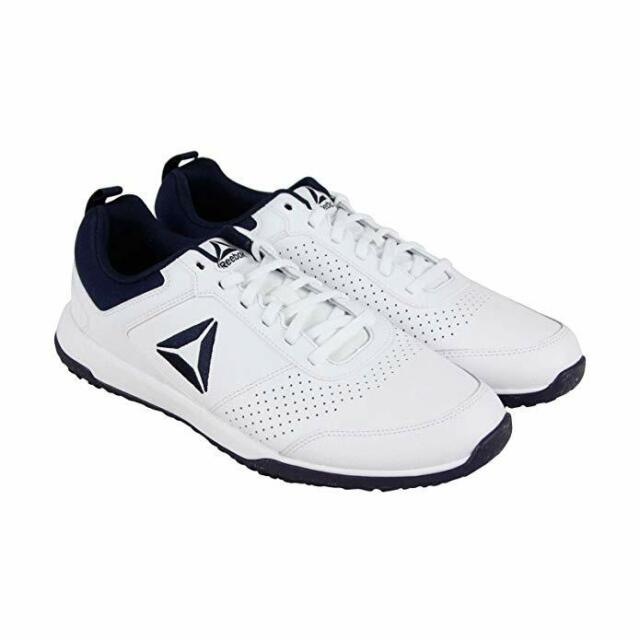 71934ec6af6 Reebok CXT Athletic Mens Shoes Leather Training Sport Sneaker White - Size  11