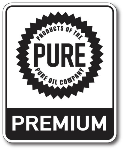 RECTANGLE PURE OIL GASOLINE LUBSTER DECAL GAS OIL CAN PUMP STICKER