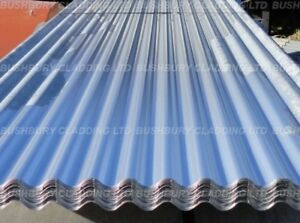 Plain Galvanised Corrugated Iron Metal Roofing Sheets Select Length Ebay