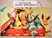 Custom Yugioh Playmat Play Mat Large Mouse Pad Pokemon Cute Eevee 365
