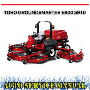 toro groundsmaster 5900 5910 rotary mower workshop service repair rh ebay com au toro riding mower repair manual toro wheel horse mower parts manual