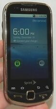 Samsung Intercept M910 Android Cell Phone Sprint Steel Gray keyboard slider -B-