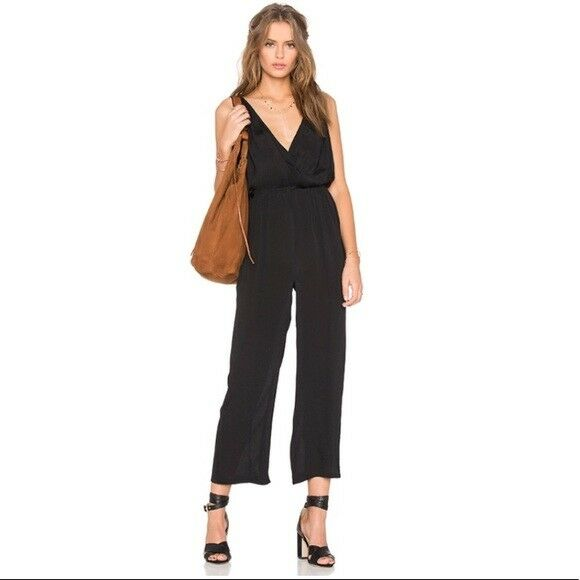 170 Privacy Please Ganzel plunge sleeveless jumpsuit size small S