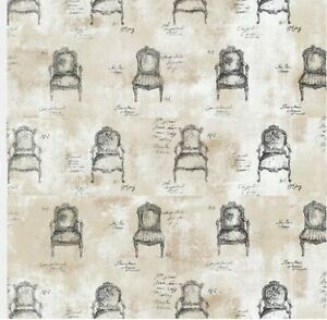 Image Is Loading Wallpaper Designer Black French Chairs And Script On