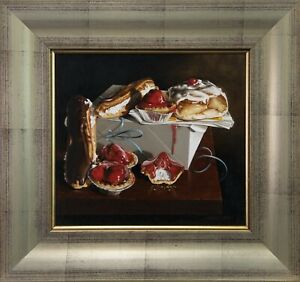 Still-Life-with-Pastries-SCOTT-WAUGH-HYPER-REALISM-Oil-Painting-On-Canvas