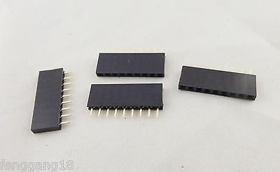 100x Gold Round 2.54mm 1x12 12 Pins Male Single Row Strip Pitch PCB Panel Header