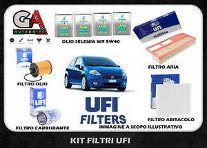 Kit tagliando Grande Punto 1.3 multijet 75cv filtri UFI 4 litri Selenia WR 5W40