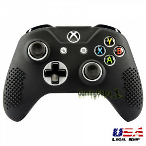 Soft-Silicone-Gel-Grip-Cover-Sleeve-Skin-for-XBOX-ONE-S-ONE-X-Controller-Black