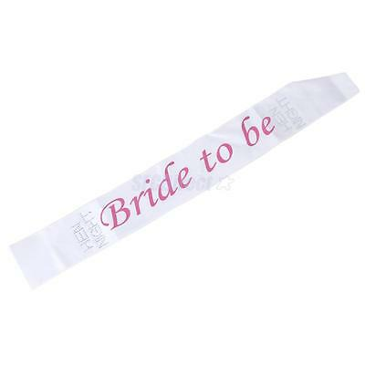 White & Pink Bride To Be Sash Girls Hen Night Bachelorette Bridal Shower Party