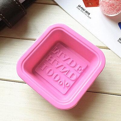Quadratische Silikon Seifen Form Mould DIY Hand Made Soap Molds Neu