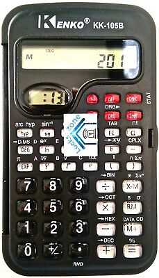 With Clock Display UNIVERSITY SCHOOL MATH NEW Kenko Calculator Model KK 105B