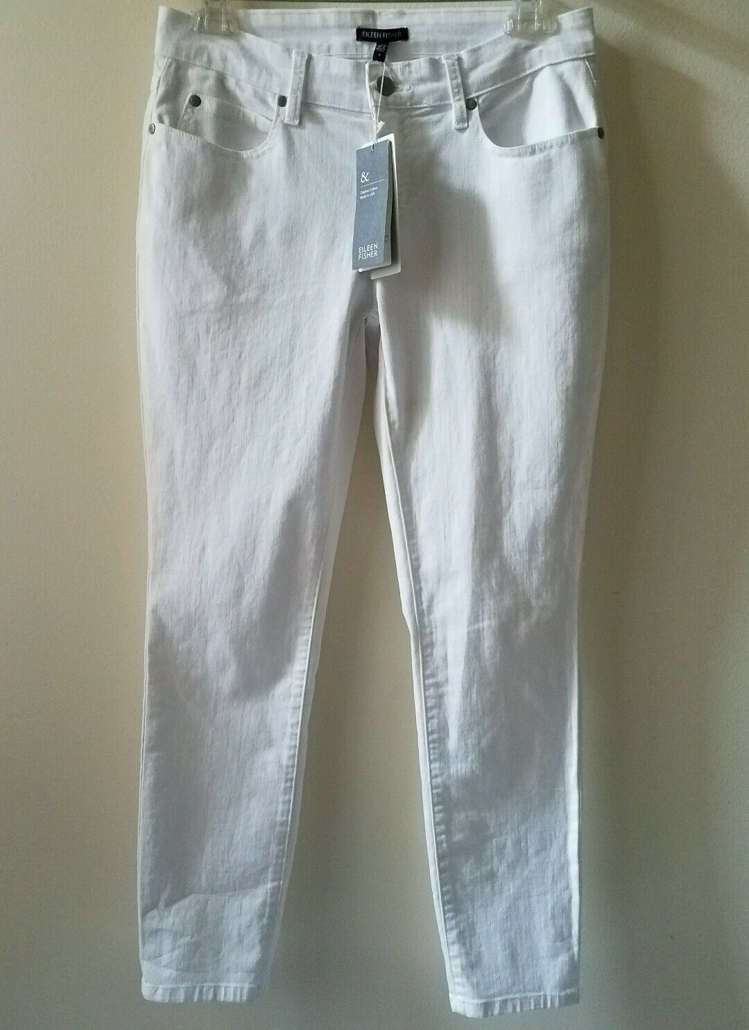 EILEEN FISHER   White Skinny Ankle Jeans Size- 4 Retail  178 NWT
