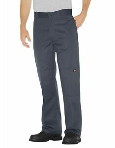 New DICKIES MEN'S Charcoal DOUBLE KNEE CELL PHONE LOOSE FIT Work PANTS 85283