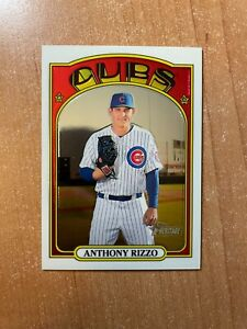 2021 Topps Heritage - Anthony Rizzo - #175 Chrome Parallel #'d /999 CUBS