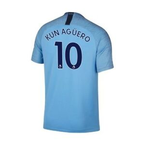 Kun Aguero #10 Home Soccer Jersey