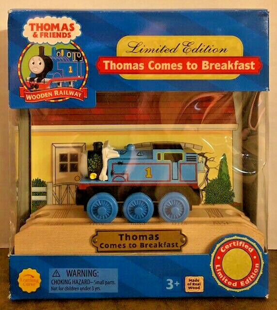 THOMAS COMES TO BREAKFAST  ~ 2003 RARE THOMAS /& FRIENDS WOODEN RAILWAY ~ LTD ED