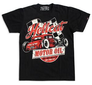 Hotrod-Hellcat-Herren-MOTOR-OIL-T-Shirts-Biker-Tattoo-Custom-Oldschool-Style