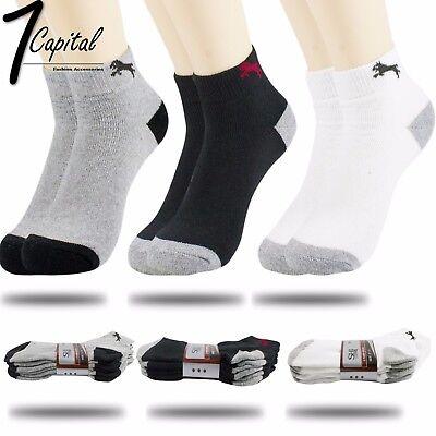 New 6 or 12pair Mens Cotton Socks Low Cut Ankle Socks Crew Sock One Size Socks