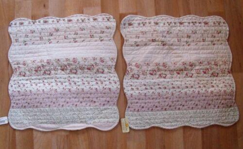 Nouveau Clayre n/'y /& feé deux Matelassé HOUSSES DE COUSSIN 40 x 40 cm