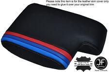 M3 Largo Rayas Gris Stitch Cuero Apoyabrazo tapa se ajusta Bmw Serie 3 E46 99-05