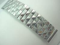 Gemex Mens Vintage Watch Band Center Expansion Stainless Steel 19mm 3/4