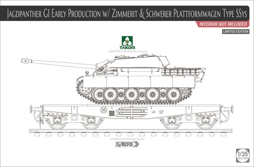 Takom 1  35 Jagdpanther G1 Early Production with Zimmerite & Schwar Plattformag