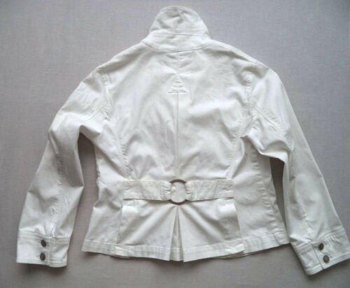 Dressy Western Jacket 8 Jean Semi Talbots Soft Fashion White Sz Womens YUwqpTK