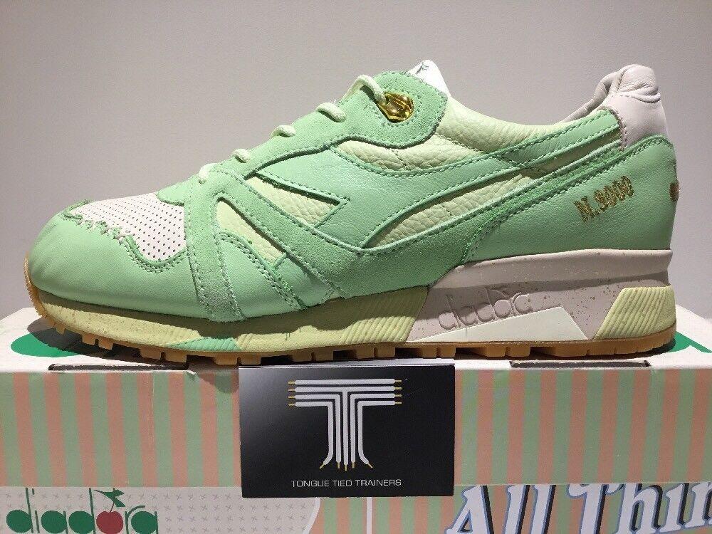 Diadora x Feature N9000 ?タ?Ice Cream?タ? Real Leather ~ Pistachio Green ~ Uk Size 9