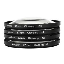 Andoer 67mm Macro Close-Up Filter Set +1 +2 +4 +10 with Pouch for Nikon Canon