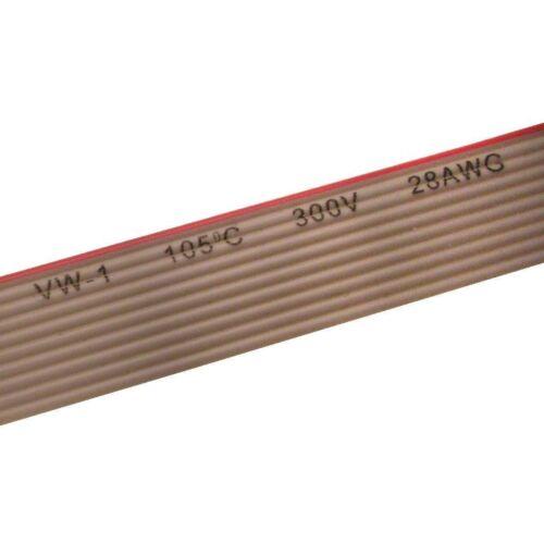 3 m Câble Ruban awg28 Câble 9 Broches Câble plat 1,27 mm Gris 0,52 €//m 856926