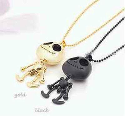 Cute UFO Style Gold/Silver/Black Robots Skeleton Chain Necklace Pendant